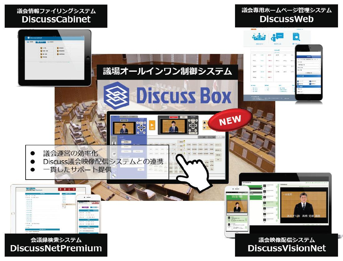 導入実績No.1の議会情報公開システム「Discussシリーズ」に新ラインナップ「DiscussBox」を追加