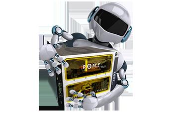 光配線切替ロボットROMEのイメージ図