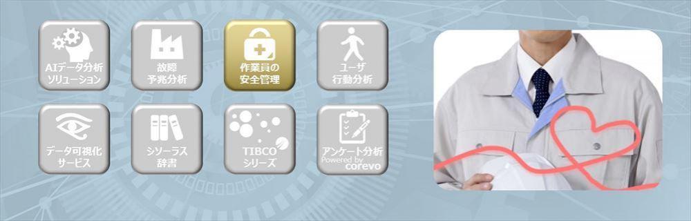 作業員の安全管理サービスのイメージ画像