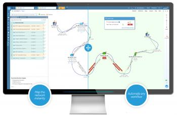 ネットワーク可視化/自動化&マップベースマネジメント「NetworkBrain」のイメージ画像