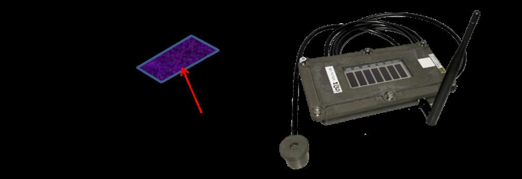 振動センサーの構成と写真