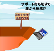 2014年4月9日 サポート打ち切りで崖から転落!?